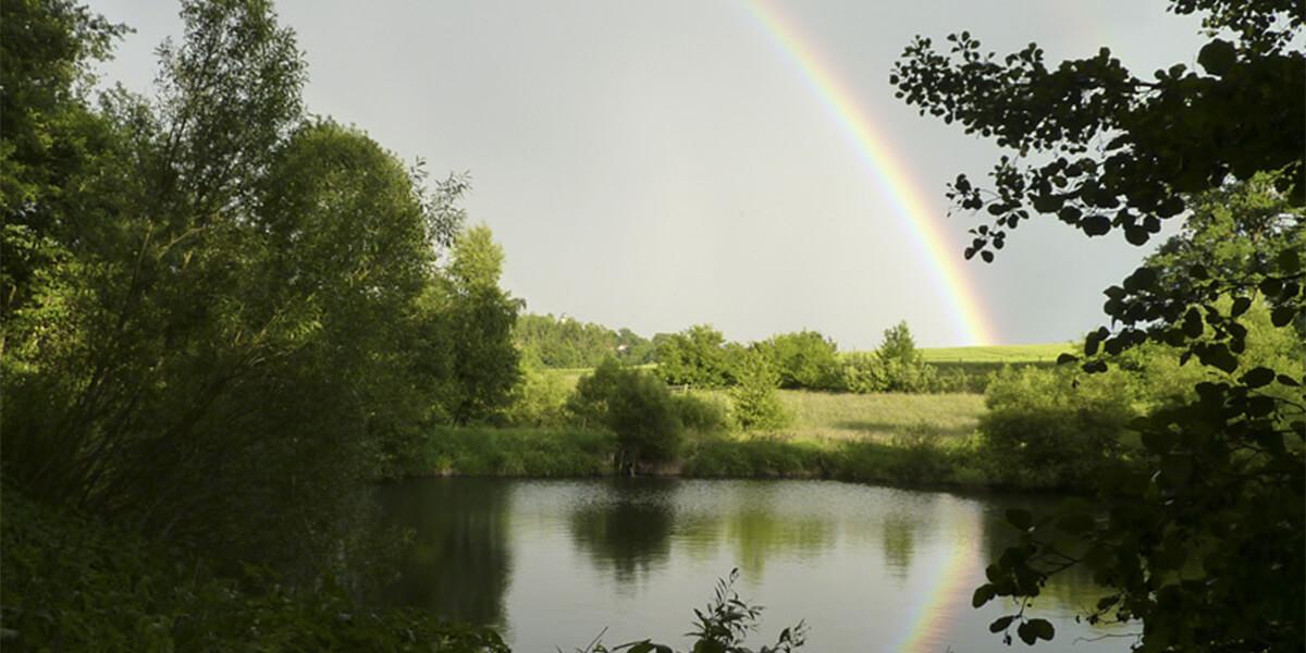 Regenbogen an der Mühle